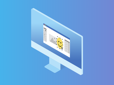 Design Service — Isometric Illustrations Serie affinity designer blue vector service design computer illustration isometric