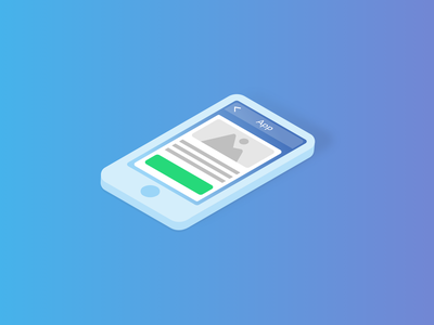 Mobile App Development Service — Isometric Illustrations Serie development app mobile affinity designer blue vector illustration isometric