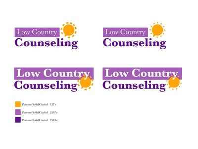 Logo options for Low Country Counseling