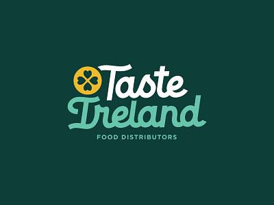 Taste Ireland lettering script logo
