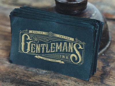 Gentleman's Ink Card gentlemans ink tattoo logo lettering vintage