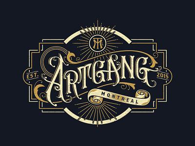 Art Gang Montreal crest handlettering logo lettering montreal artgang