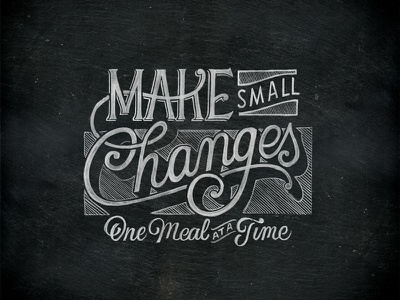 Make Small Changes chalk type handlettering lettering