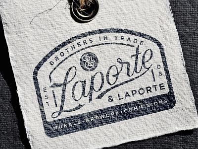 Laporte & Laporte logomark vintage lettering card branding logo
