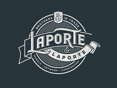 Laporte & Laporte Badge lettering crest logo badge