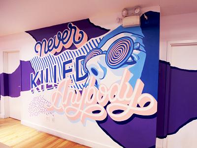 Ecorce Mural 2 street art pop art hand lettering mural lettering bold