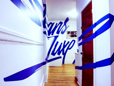 Sans Luxe handlettering lettering mural anamorphic