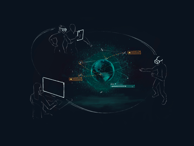 XR Satellite Collaboration ui ux sketch concept artwork design ar mr vr xr augmented mixed virtual extended reality education