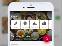 Restaurant App Home Search
