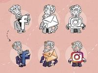 Mr. Bacchus - Mascot Illustration