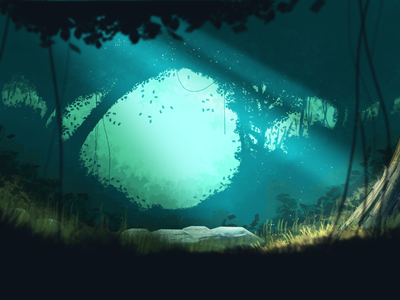 Hero image for PayGarden. photoshop drawing illustration forest