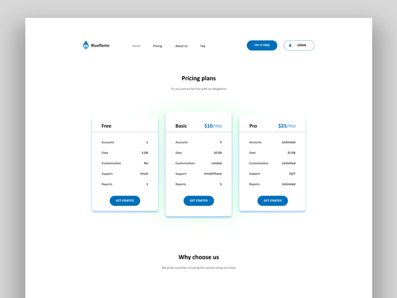Pricing Page minimalistic page landing website ux ui pricing