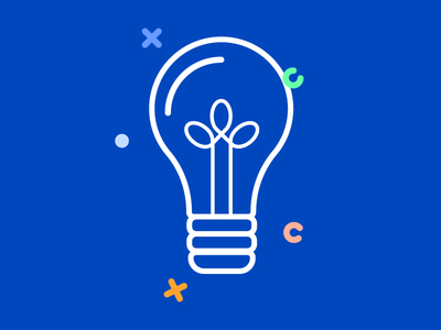 Lightbulb for Ask an Expert section svg vector lightbulb ux ui illustration