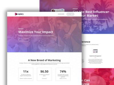 Apiary Social Homepage Design