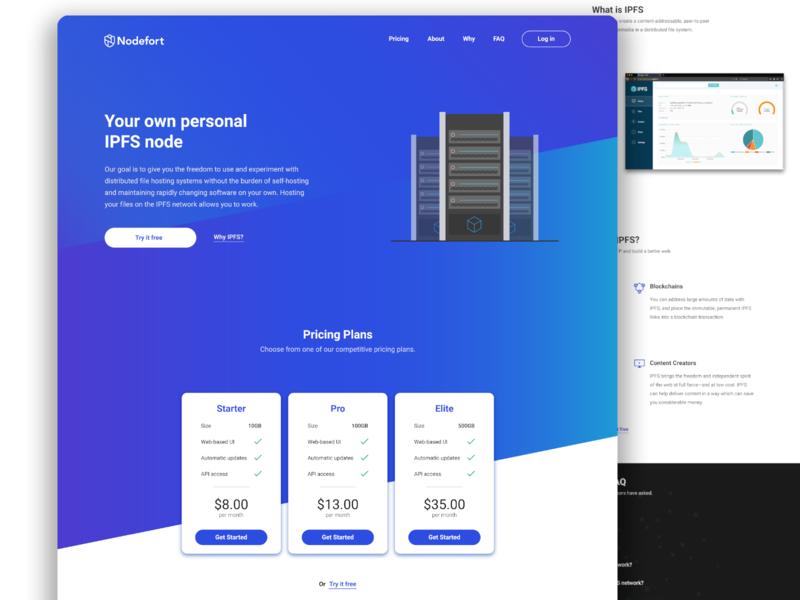 Nodefort.io landing page redesign