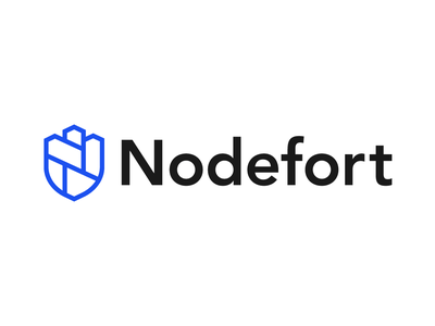 Nodefort Final Logo typography illustration design icon vector branding logo