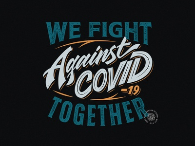 Against Covid hand drawn donation typography covid-19 branding vintage design quote brush calligraphy script custom type vector calligraphy lettering hand lettering