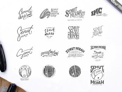 Semut Merah Sketch Option branding lettering sketch logo