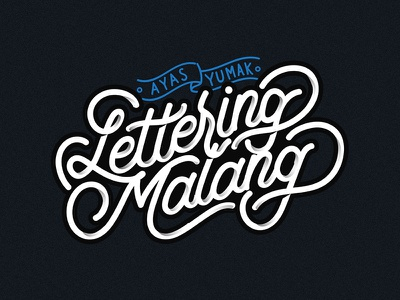 Lettering Malang lettering vector calligraphy hand lettering