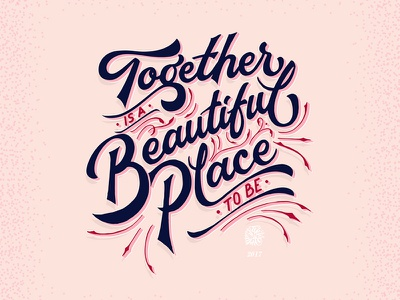 Is A Beautiful Place calligraphy love quote vector hand lettering lettering