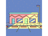 Motel at dusk