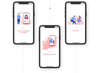 Dating app ios app design design clean ux