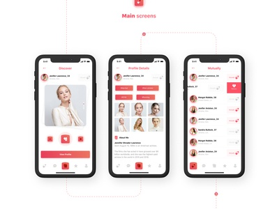 Dating app ios app design dating app ios app ios clean design design clean ux