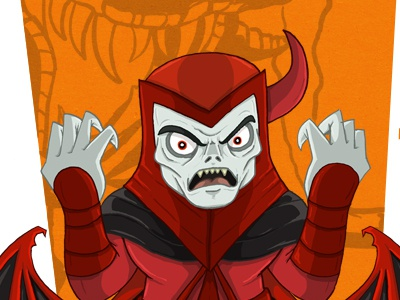 Venger dungeon and dragons villain illustration venger chibi meejit meejitz cartoon