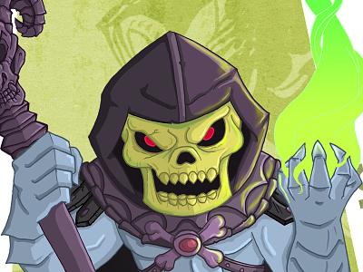 Skeletor skeletor he-man masters of the universe meejitz illustration chibi villain retro