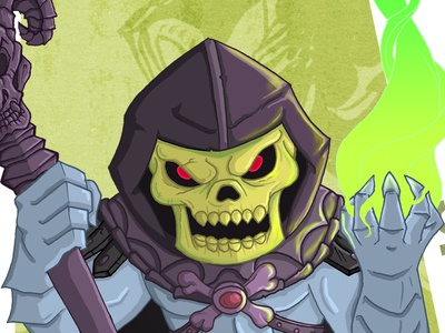Skeletor skeletor he-man masters of the universe meejitz illustration chibi villain retro