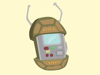 Retro Turtle Comm teenage mutant ninja turtles t-comm communicator illustration podcast retro