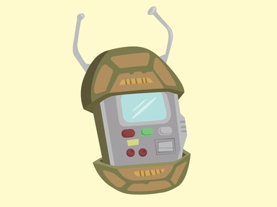 Retro Turtle Comm teenage mutant ninja turtles t-comm communicator illustration podcast retro