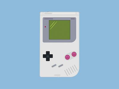 Nintendo Gameboy gameboy nintendo handheld console illustration gaming retro