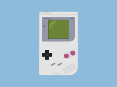 Nintendo Gameboy gameboy nintendo handheld console illustration gaming retro
