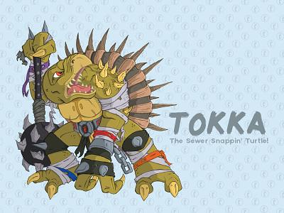 Tokka tokka tmnt illustration teenage mutant ninja turtles spikes