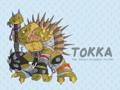 Tokka tokka tmnt illustration teenage mutant ninja turtles spikes