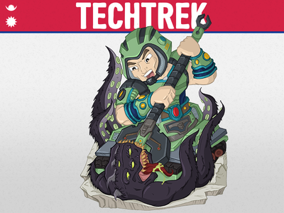 Techtrek defenders of eden commission nepal charity illustration techtrek