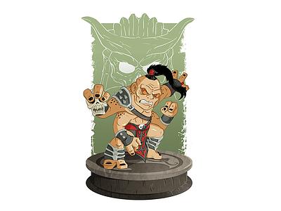 Goro video game shao kahn mortal kombat illustration chibi monster dragon goro mystical