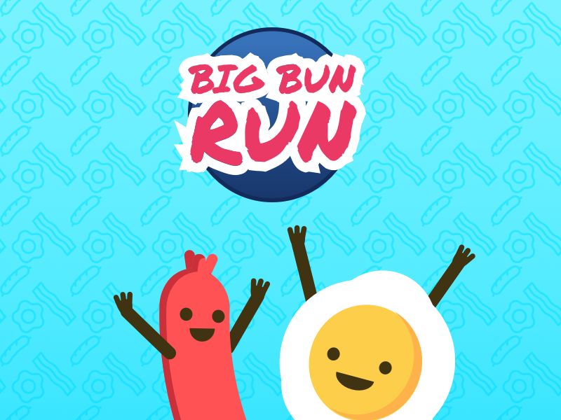 Hackathon - Big Bun Run wallpaper app egg sausage breakfast