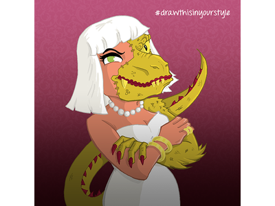 Nazzaro's Lizard Lady draw this in your style femme fatale lizard lady illustration reptile lizard