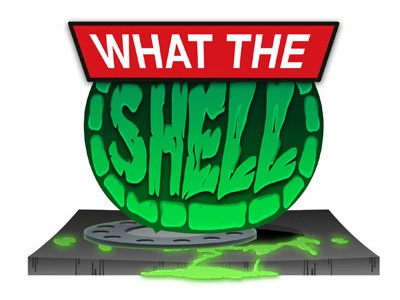 LOGO - What The Shell Podcast what the shell teenage mutant ninja turtles podcast sewer logo ooze manhole