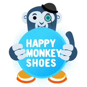 LOGO - happymonkeyshoes happymonkeyshoes logo monocle bowler hat happy monkey shoes
