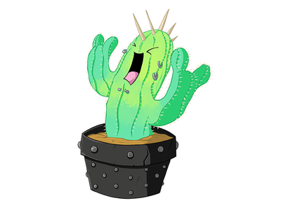 Punk Rock Cactus punk rock illustration ipad pro procreate cacti cactus