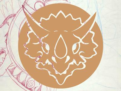 Royal Preservation Logo Work in Progress logo dinosaur triceratops royal society preservation