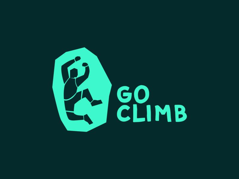 Go Climb - Branding sport mountains vector app climbing bouldering branding design logo