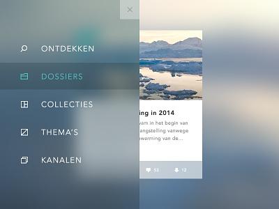 Overlay Menu menu overlay blur ios7 icons user interface