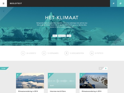 Theme page theme page flat ui video audio user interface photography climate global warming