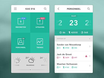 Horticulturist App app flat iphone ui