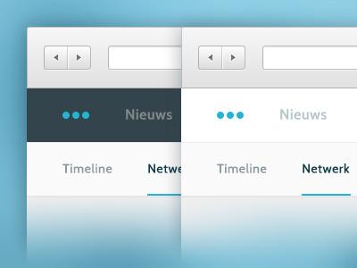 Desktop Navigation Bar navigation menu top desktop clean flat light dark version