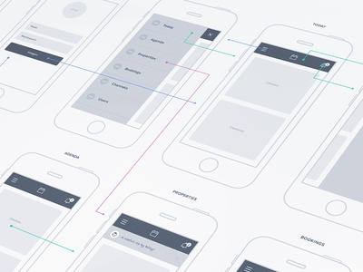 Mobile Wireframe mobile wireframe interaction flows design app